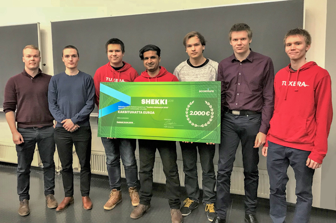 Tuxera mentored student team selected as the winner of the Accenture