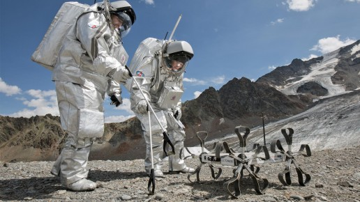 PLWS lunar rover testing on Earth.